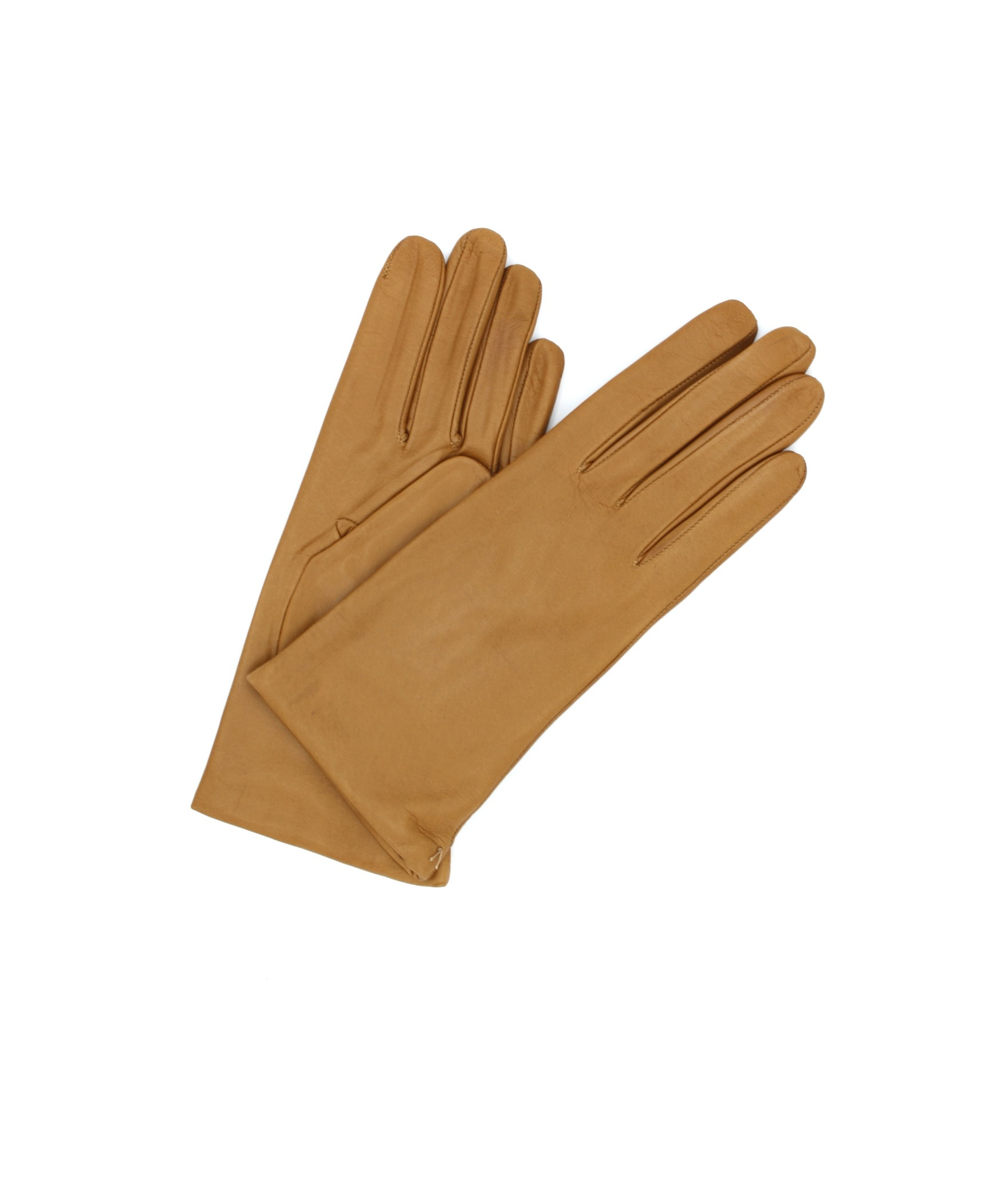 Nappa leather gloves Cashmere lined Camel Sermoneta Gloves