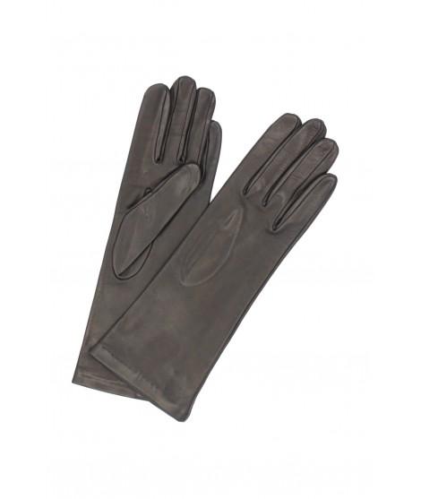 Nappa leather gloves 4bt Silk lined Black Sermoneta Gloves