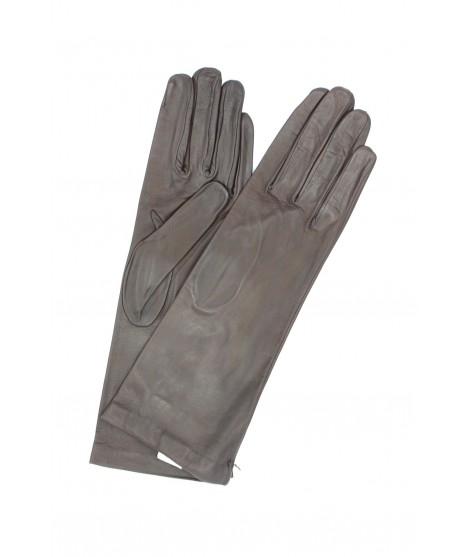 Nappa leather gloves 4bt Silk lined Dark Brown Sermoneta Gloves