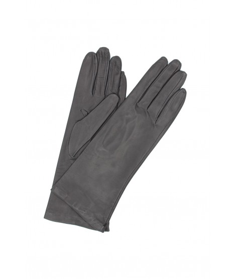 Nappa leather gloves 4bt Silk lined Grey Sermoneta Gloves