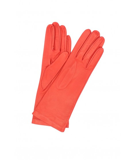 Nappa leather gloves 4bt Silk lined Red Sermoneta Gloves