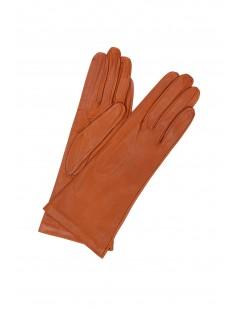 Nappa leather gloves 4bt Silk lined Tan Sermoneta Gloves