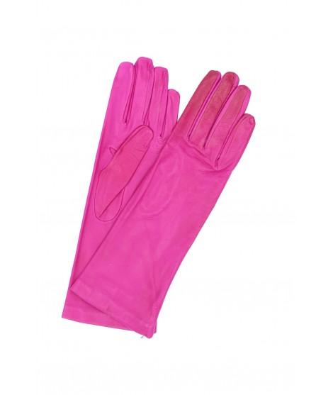 Nappa leather gloves 4bt Silk lined Fuchsia Sermoneta Gloves