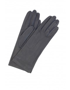 Nappa leather gloves 4bt Silk lined Navy Sermoneta Gloves