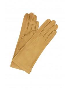 Nappa leather gloves 4bt Silk lined Camel Sermoneta Gloves