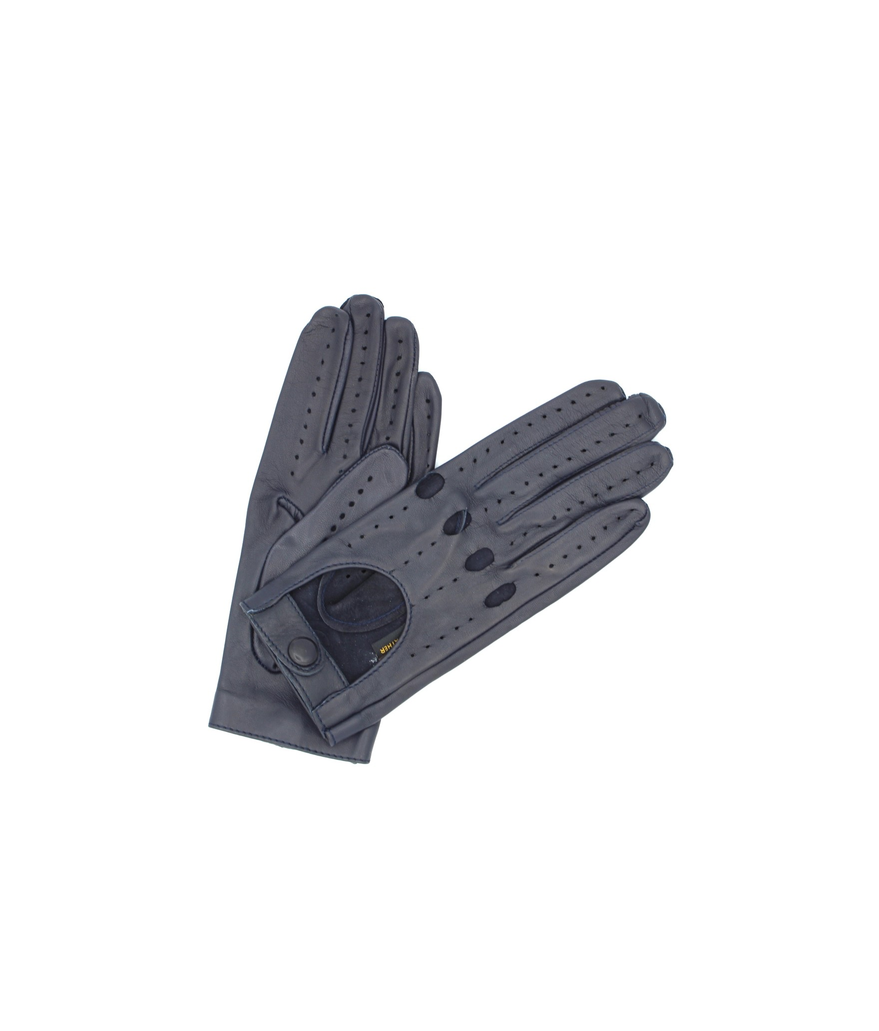 Driving gloves in Nappa Leather Navy Sermoneta Gloves Leather