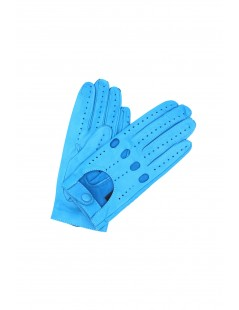 Driving gloves in Nappa Leather Turquoise Sermoneta Gloves