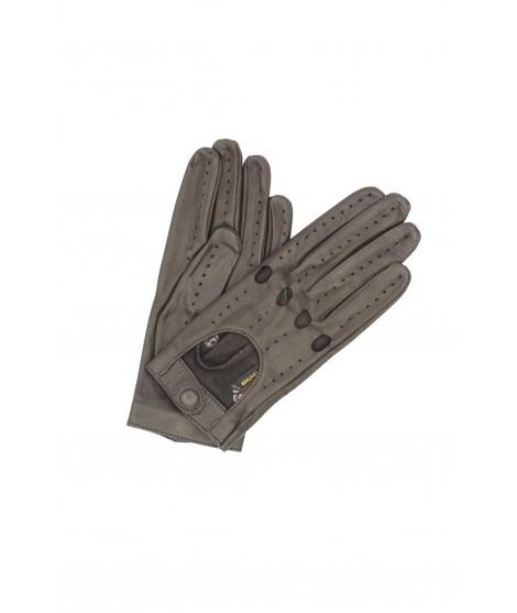Driving gloves in Nappa Leather Dark Brown Sermoneta Gloves