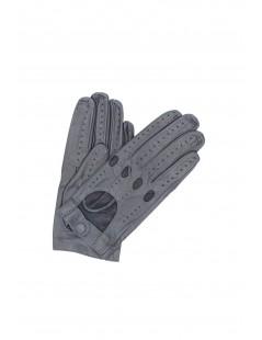 Driving gloves in Nappa Leather Dark Grey Sermoneta Gloves