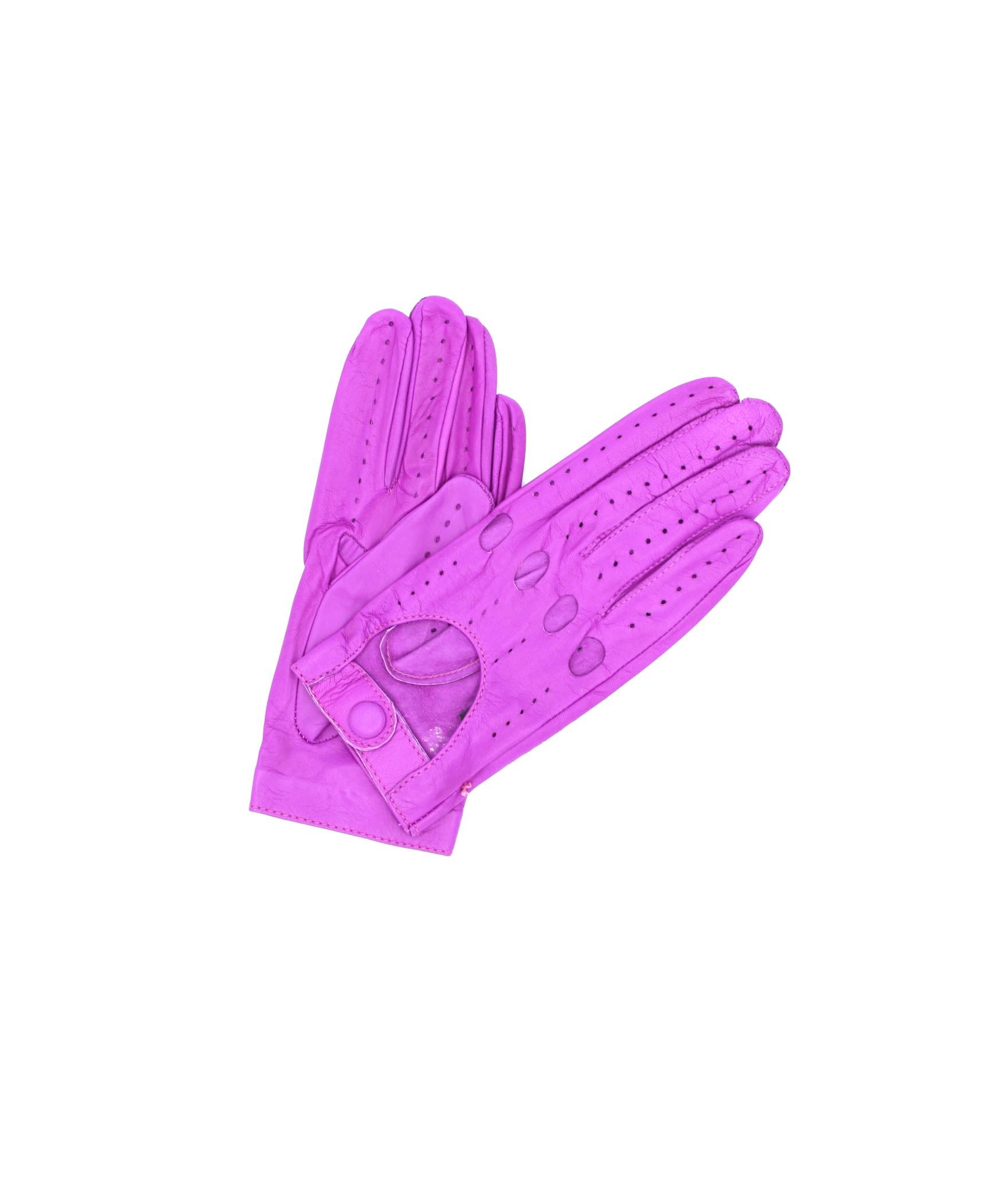 Driving gloves in Nappa Leather Fuchsia Sermoneta Gloves