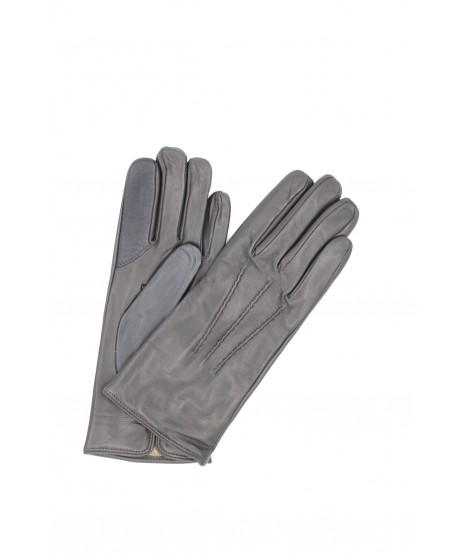 Touch Screen Nappa leather gloves, cashmere lined Dark Grey