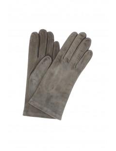 Suede Nappa leather gloves lined Cashmere Dark Grey Sermoneta