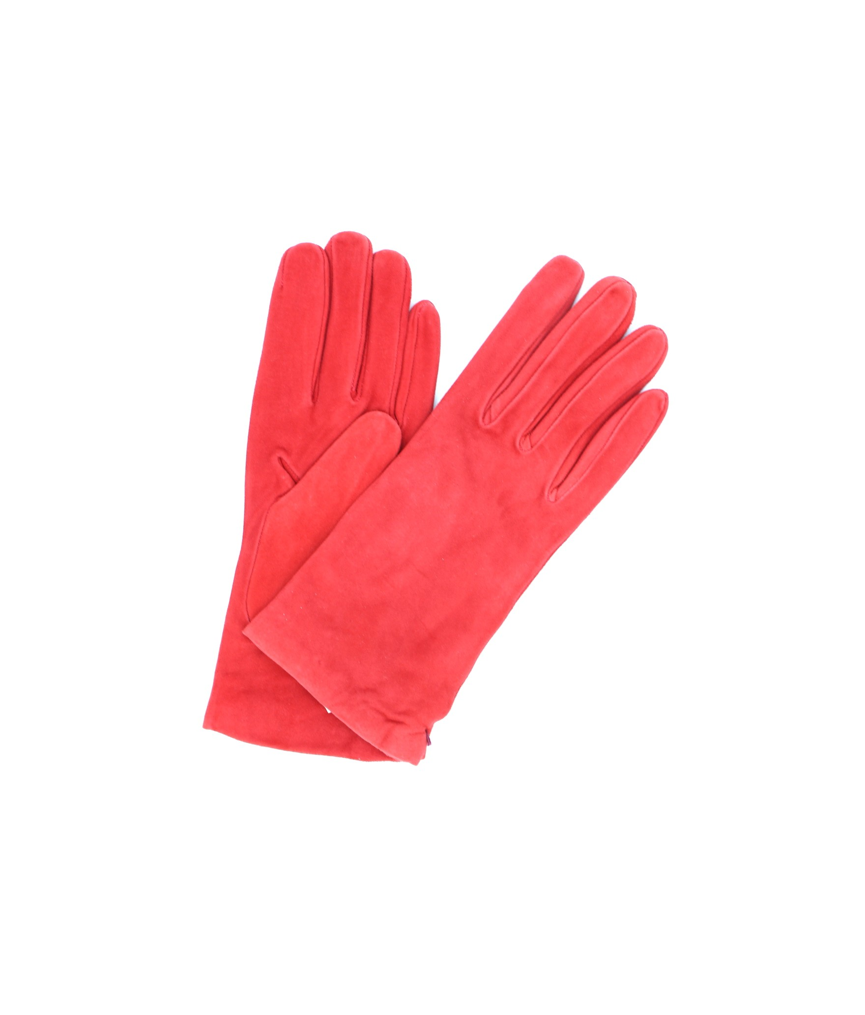 Suede Nappa leather gloves lined Cashmere Red Sermoneta Gloves