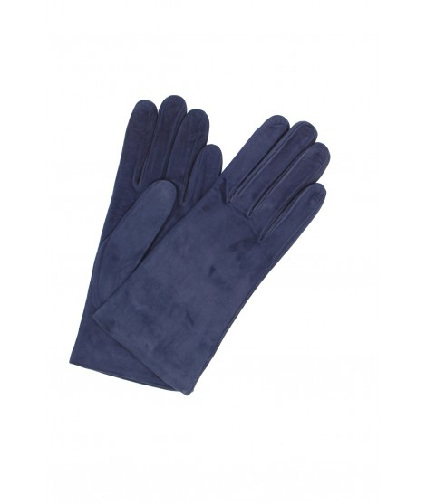 Suede Nappa leather gloves lined Cashmere Navy Sermoneta Gloves