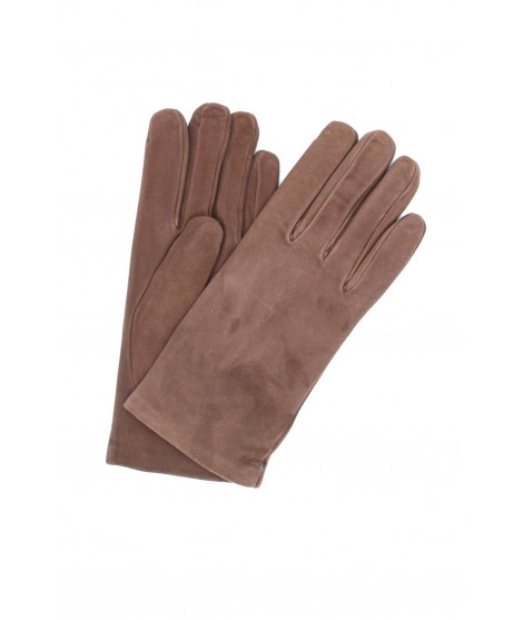 Suede Nappa leather gloves lined Cashmere Mink Sermoneta Gloves