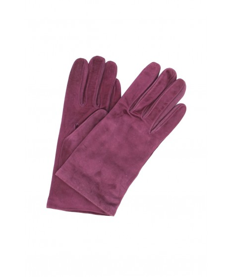 Suede Nappa leather gloves lined Cashmere Bordeaux Sermoneta