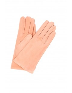 Suede Nappa leather gloves lined Cashmere Pink Sermoneta Gloves