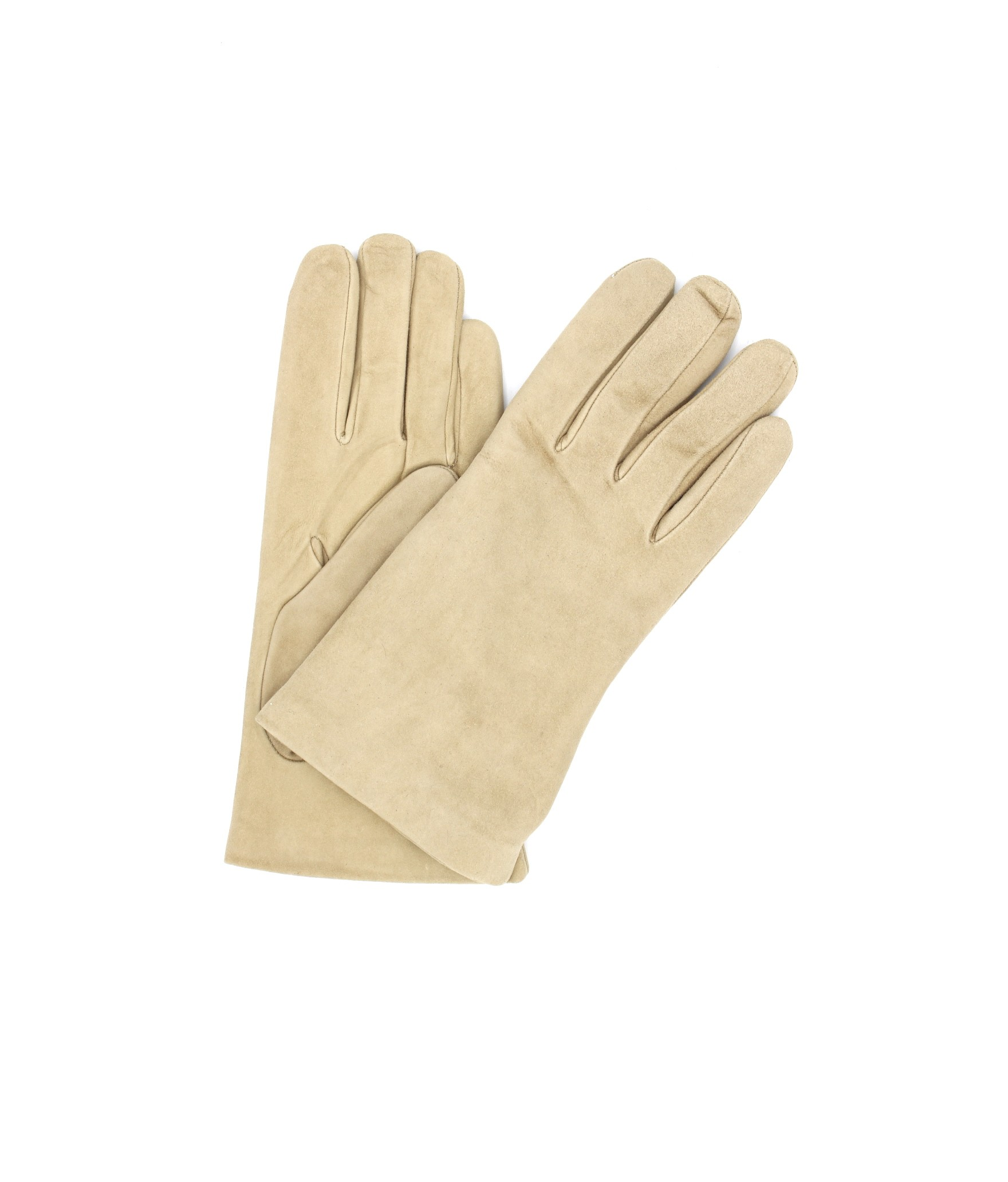 Suede Nappa leather gloves lined Cashmere Light Beige Sermoneta