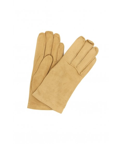 Suede Nappa leather gloves lined Cashmere Cookie Sermoneta