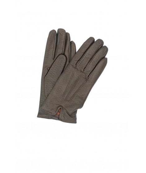 Nappa leather gloves cashmere lined Dark Brown Sermoneta Gloves