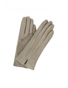 Nappa leather gloves cashmere lined Taupe Sermoneta Gloves