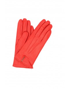 Nappa leather gloves cashmere lined Red Sermoneta Gloves