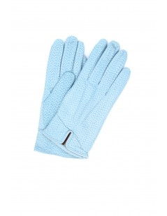 Nappa leather gloves cashmere lined Light blue Sermoneta Gloves