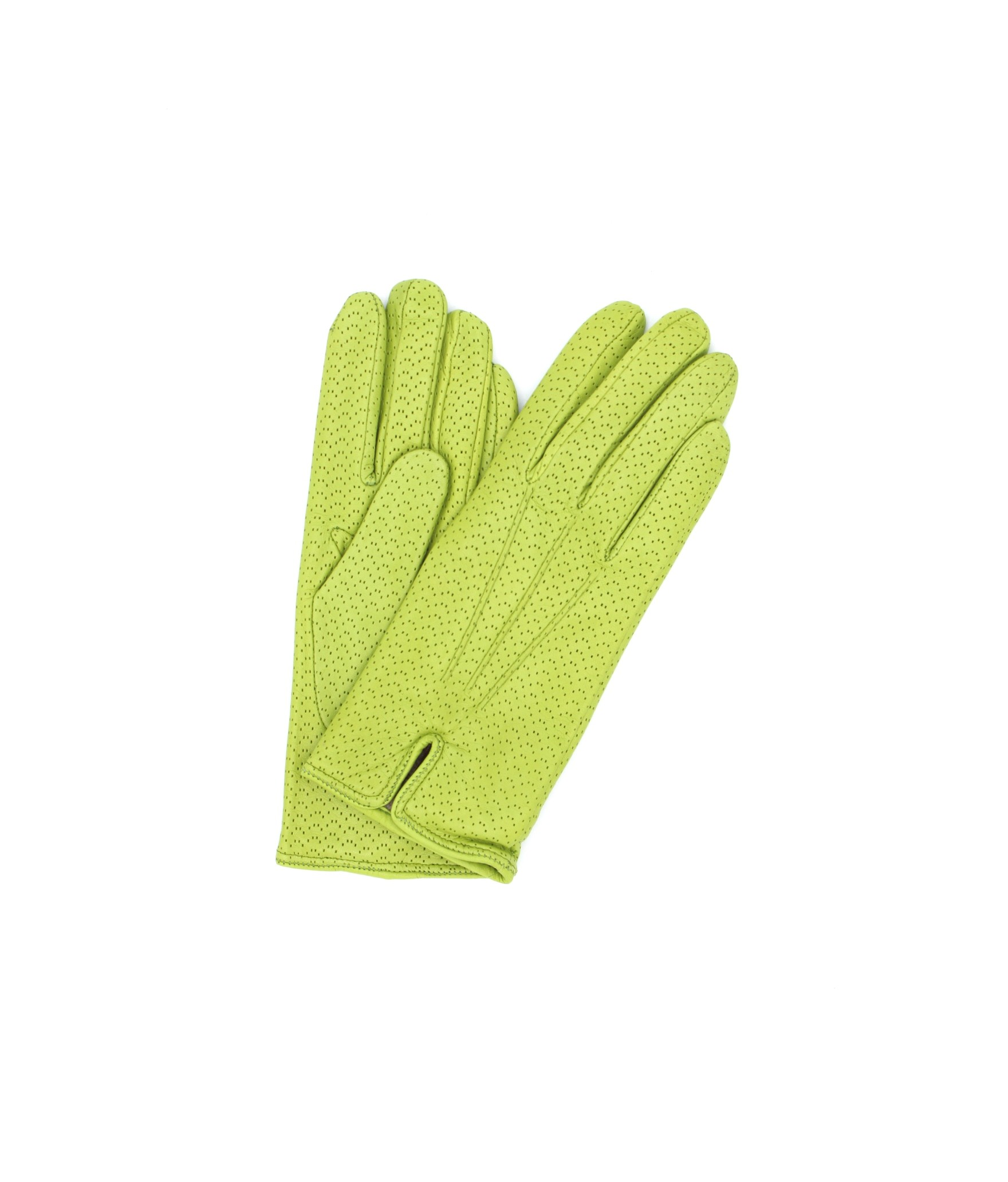 Nappa leather gloves cashmere lined Pistachio Sermoneta Gloves