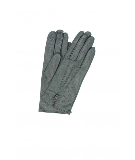 Nappa leather gloves cashmere lined Dark Green Sermoneta Gloves