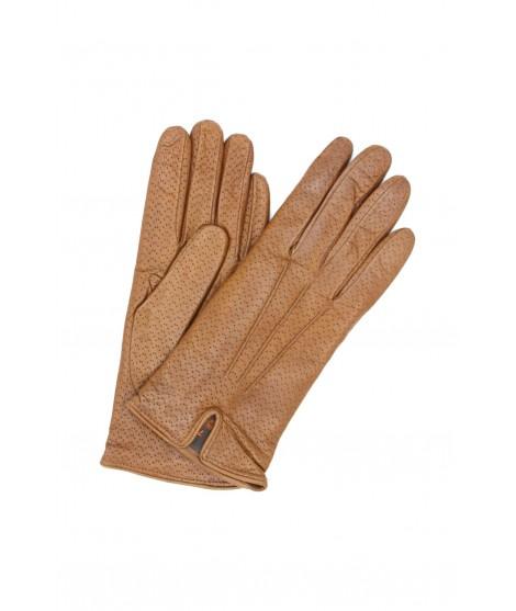 Nappa leather gloves cashmere lined Tan Sermoneta Gloves