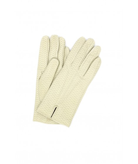 Nappa leather gloves cashmere lined Cream Sermoneta Gloves