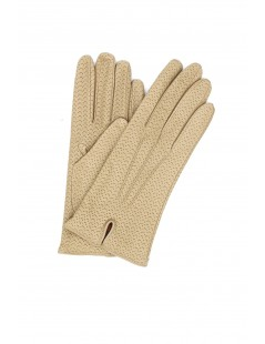 Nappa leather gloves cashmere lined Light Beige Sermoneta