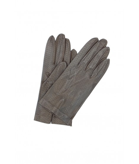 Nappa leather gloves unlined Dark Brown Sermoneta Gloves