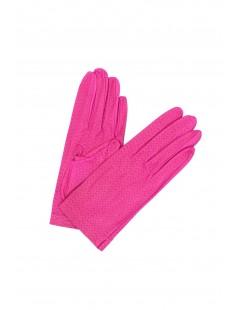 Nappa leather gloves unlined Fuchsia Sermoneta Gloves Leather