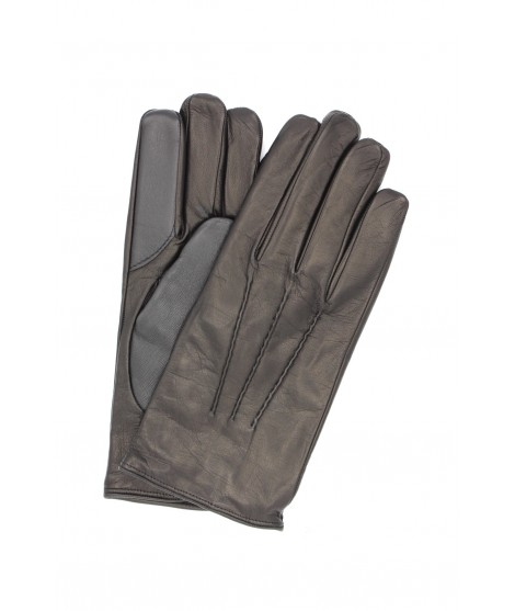 Touch screen Nappa glove lined Cashmere Black Sermoneta Gloves