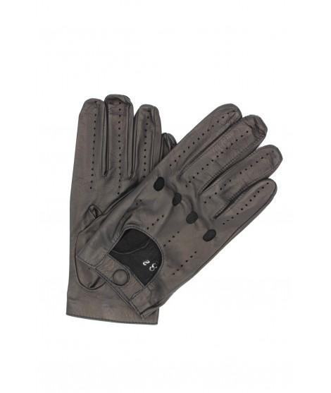 Guanto da Guida in Nappa dita intere Nero Sermoneta Gloves