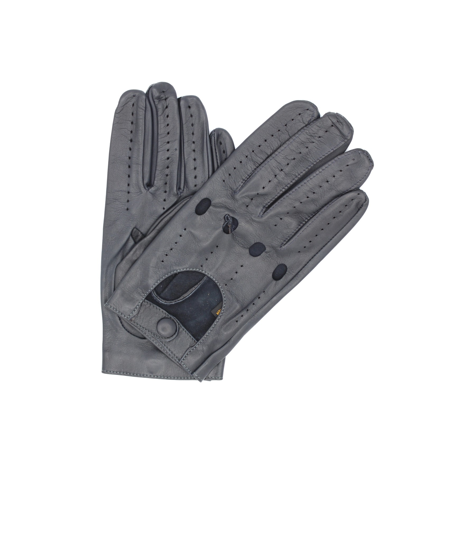 Driving gloves in Nappa leather Grey Sermoneta Gloves Leather