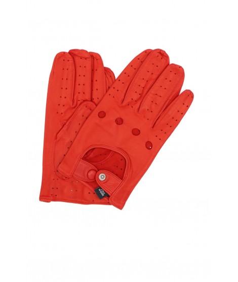 Guanto da Guida in Nappa dita intere Rosso Sermoneta Gloves
