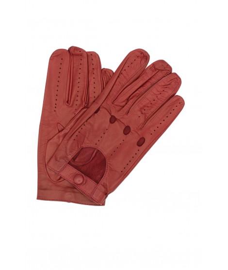 Driving gloves in Nappa leather Dark Red Sermoneta Gloves