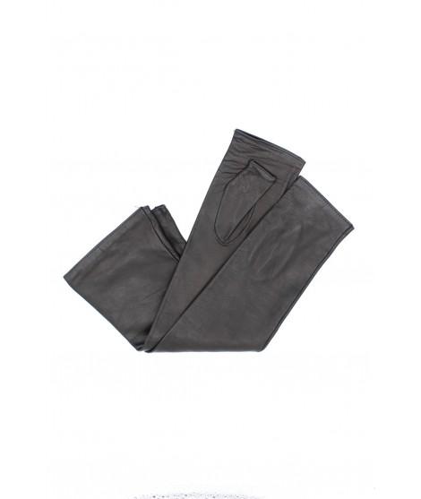 Half Mitten in Nappa leather 10bt silk lined Black Sermoneta