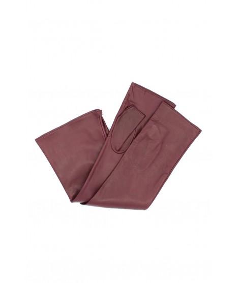 Half Mitten in Nappa leather 10bt silk lined Bordeaux Sermoneta
