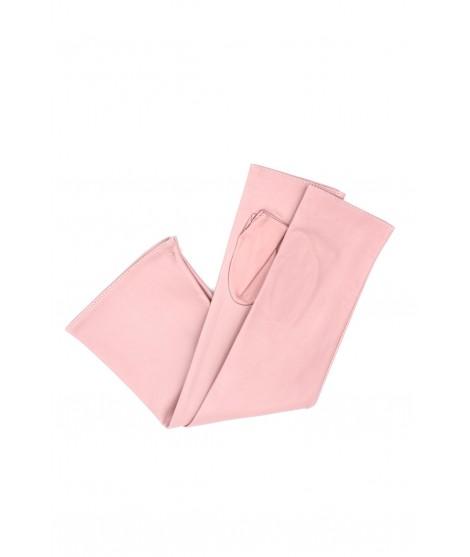 Half Mitten in Nappa leather 10bt silk lined Pink Sermoneta