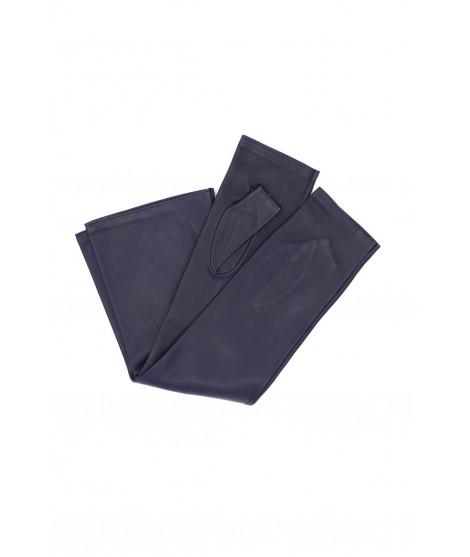 Half Mitten in Nappa leather 10bt silk lined Navy Sermoneta