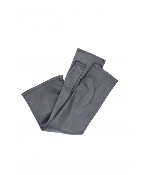 Half Mitten in Nappa leather 10bt silk lined Grey Sermoneta