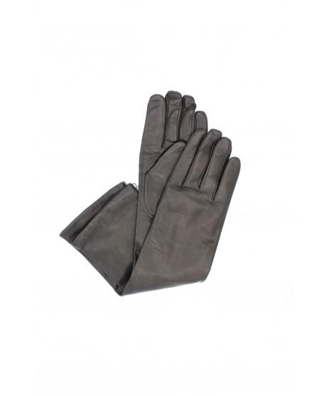 Nappa leather gloves cashmere 10bt Dark Brown Sermoneta Gloves