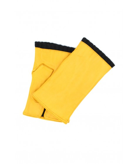 Half Mitten in Nappa leather cashmere lined Ocra Yellow