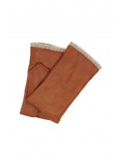 Half Mitten in Nappa leather cashmere lined Tan Sermoneta