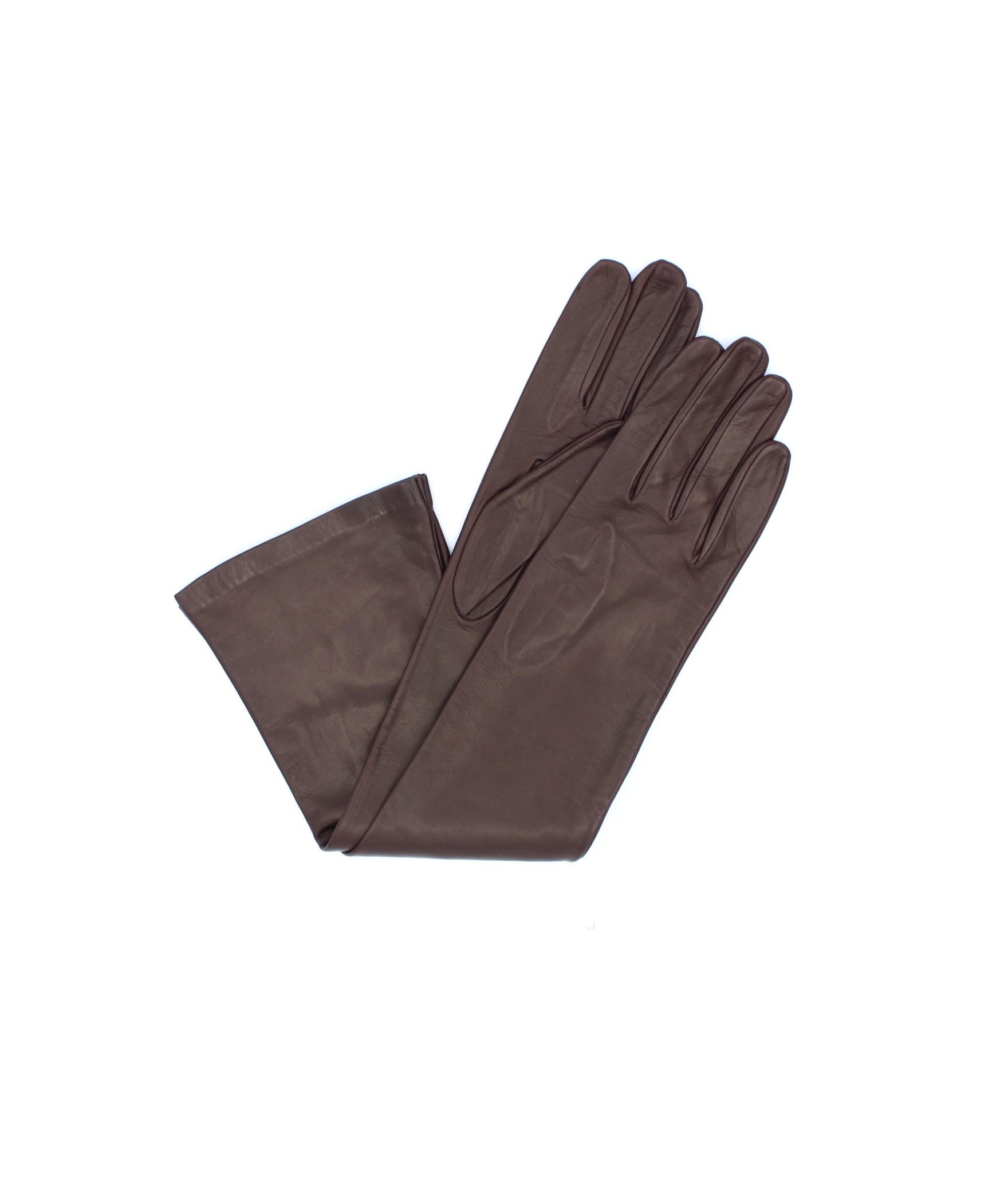Nappa leather gloves 10bt silk lined Bordeaux Sermoneta Gloves