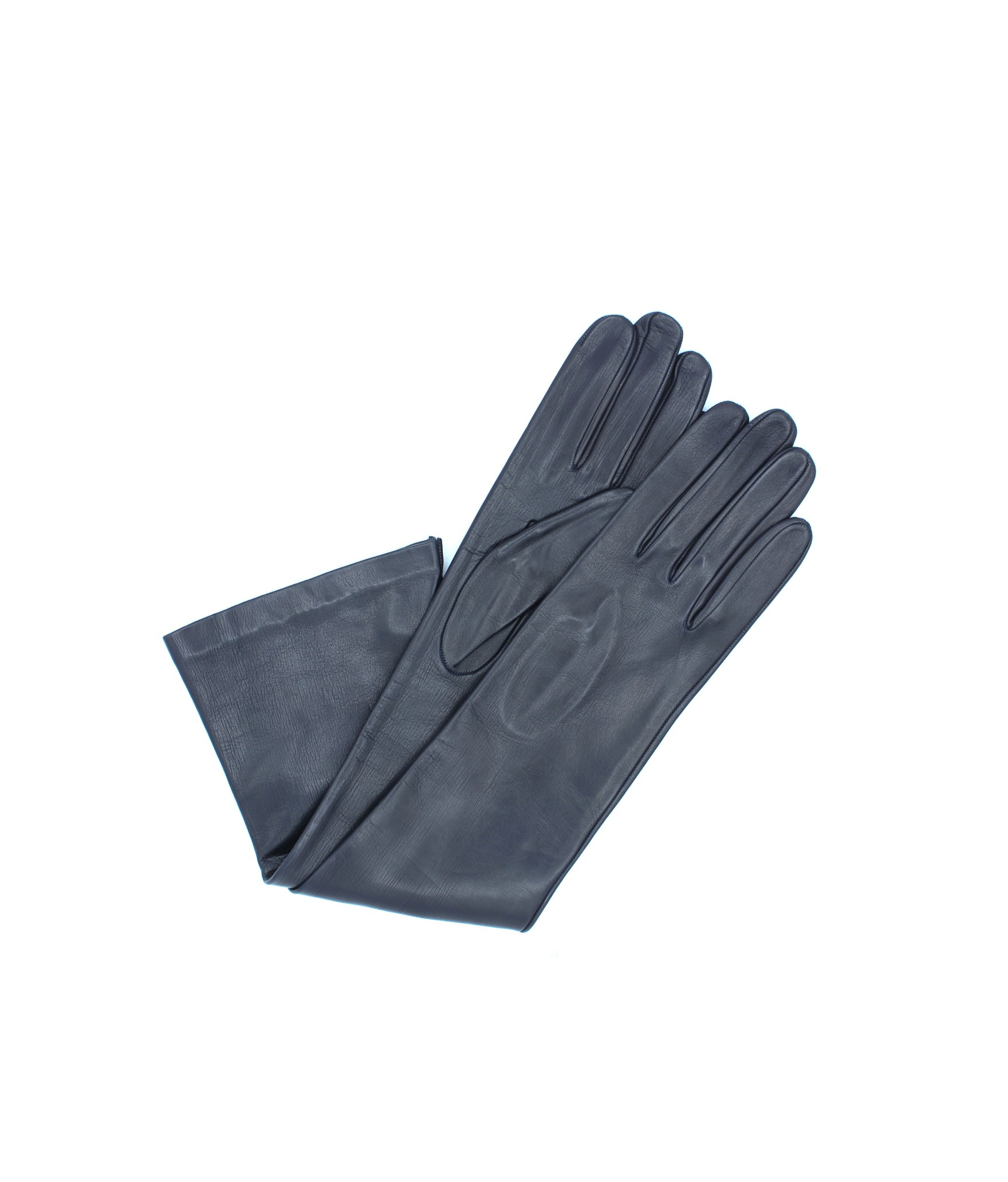 Nappa leather gloves 10bt silk lined Navy Sermoneta Gloves