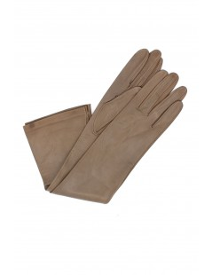 Nappa leather gloves 10bt silk lined Mud Sermoneta Gloves